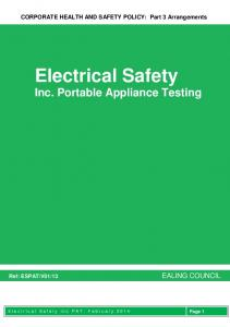 Electrical Safety Inc. Portable Appliance Testing