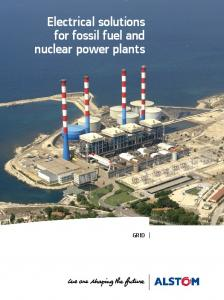 Electrical solutions for fossil fuel and nuclear power plants