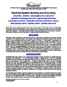 Electrical System Bonding and Grounding