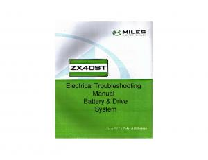 Electrical Troubleshooting Manual Battery & Drive System