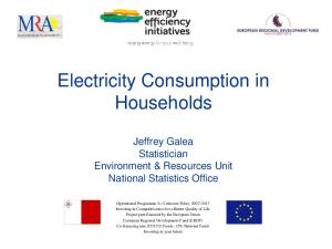 Electricity Consumption in Households