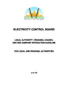 ELECTRICITY CONTROL BOARD