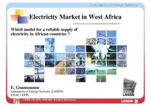 Electricity Market in West Africa