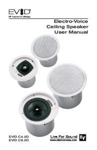 Electro-Voice Ceiling Speaker User Manual