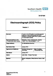 Electrocardiograph (ECG) Policy