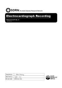 Electrocardiograph Recording