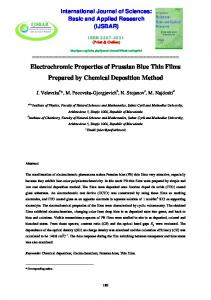 Electrochromic Properties of Prussian Blue Thin Films Prepared by Chemical Deposition Method