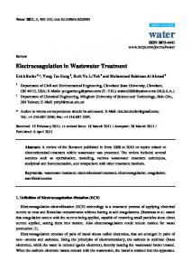 Electrocoagulation in Wastewater Treatment