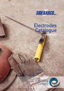 Electrodes Catalogue. Catalogo Elettrodi