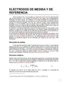 ELECTRODOS DE MEDIDA Y DE REFERENCIA