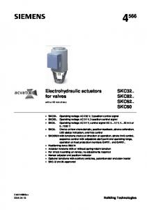 Electrohydraulic actuators for valves