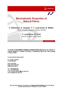 Electrokinetic Properties of Natural Fibres