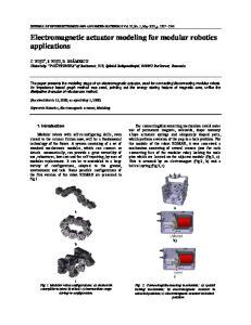 Electromagnetic actuator modeling for modular robotics applications