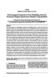 Electromagnetic Equivalent Circle Modelling of Interior Permanent Magnet Synchronous Machine Using Modelica
