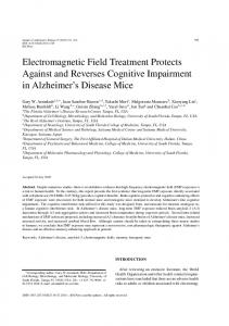 Electromagnetic Field Treatment Protects Against and Reverses Cognitive Impairment in Alzheimer s Disease Mice