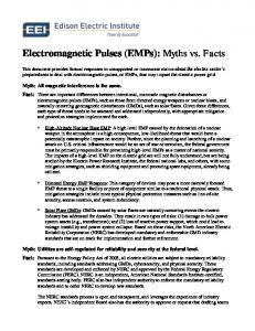 Electromagnetic Pulses (EMPs): Myths vs. Facts