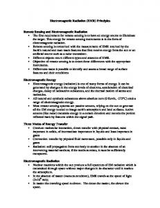 Electromagnetic Radiation (EMR) Principles