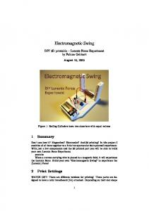 Electromagnetic Swing