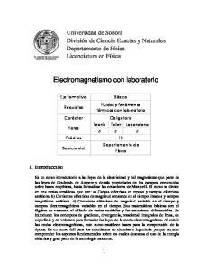 Electromagnetismo con laboratorio