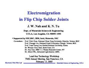Electromigration in Flip Chip Solder Joints