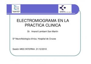 ELECTROMIOGRAMA EN LA PRACTICA CLINICA
