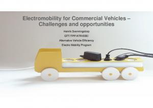 Electromobility for Commercial Vehicles Challenges and opportunities