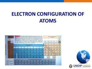 ELECTRON CONFIGURATION OF ATOMS