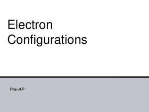 Electron Configurations. Pre-AP