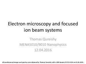 Electron microscopy and focused ion beam systems