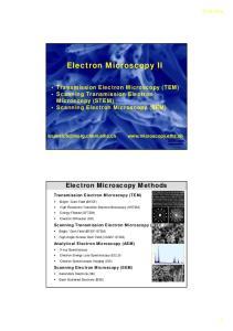 Electron Microscopy II