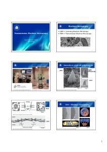 Electron Microscopy. Transmission Electron Microscopy. ! SEM = Scanning Electron Microscopy! TEM = Transmission Electron Microscopy