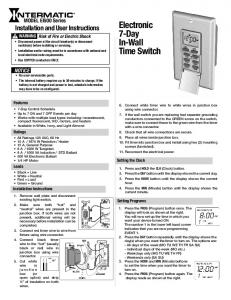 Electronic 7-Day In-Wall Time Switch