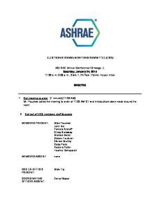 ELECTRONIC COMMUNICATIONS COMMITTEE (ECC)
