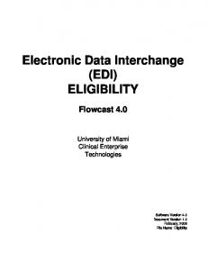 Electronic Data Interchange (EDI) ELIGIBILITY