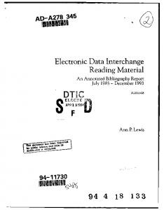 Electronic Data Interchange Reading Material