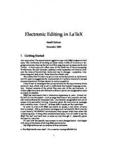 Electronic Editing in LaTeX