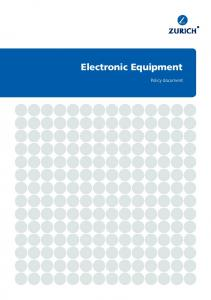 Electronic Equipment. Policy document