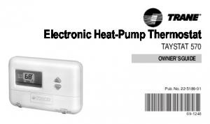 Electronic Heat-Pump Thermostat