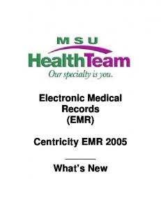 Electronic Medical Records (EMR)