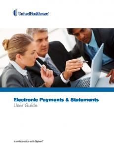 Electronic Payments & Statements User Guide