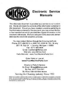Electronic Service Manuals