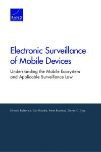 Electronic Surveillance of Mobile Devices