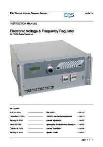 Electronic Voltage & Frequency Regulator