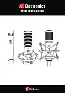 Electronics. Microphone Manual. Electronics