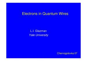Electrons in Quantum Wires