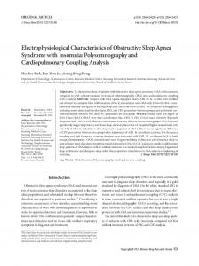 Electrophysiological Characteristics of Obstructive Sleep Apnea Syndrome with Insomnia: Polysomnography and Cardiopulmonary Coupling Analysis