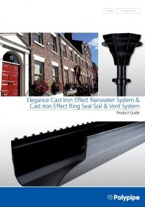 Elegance Cast Iron Effect Rainwater System & Cast Iron Effect Ring Seal Soil & Vent System