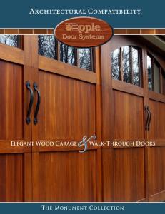 Elegant Wood Garage Walk-Through Doors