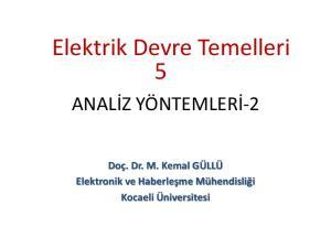 Elektrik Devre Temelleri 5