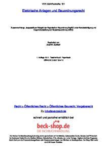 Elektrische Anlagen und Bauordnungsrecht